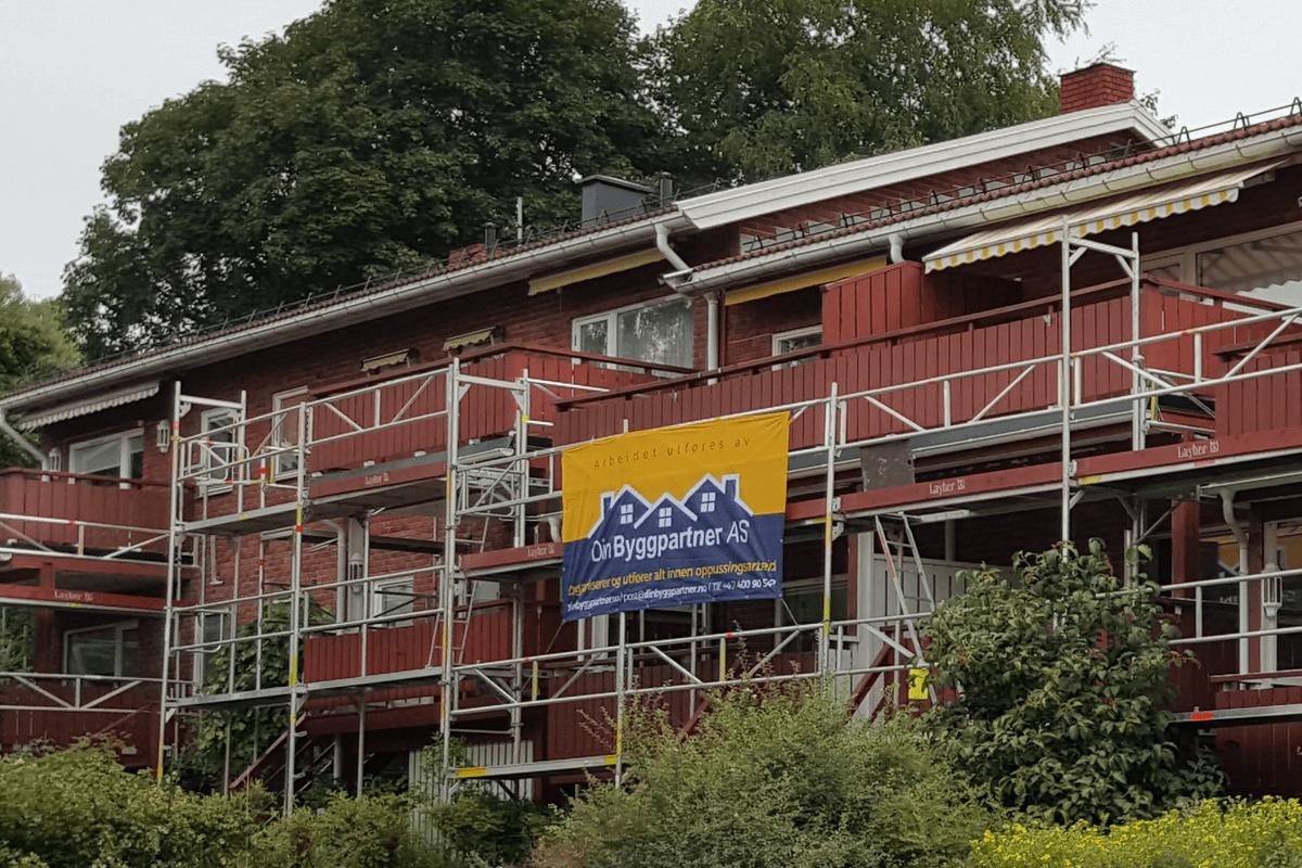 Maling av fasade i sameie – Malerfirma DinMalerpartner