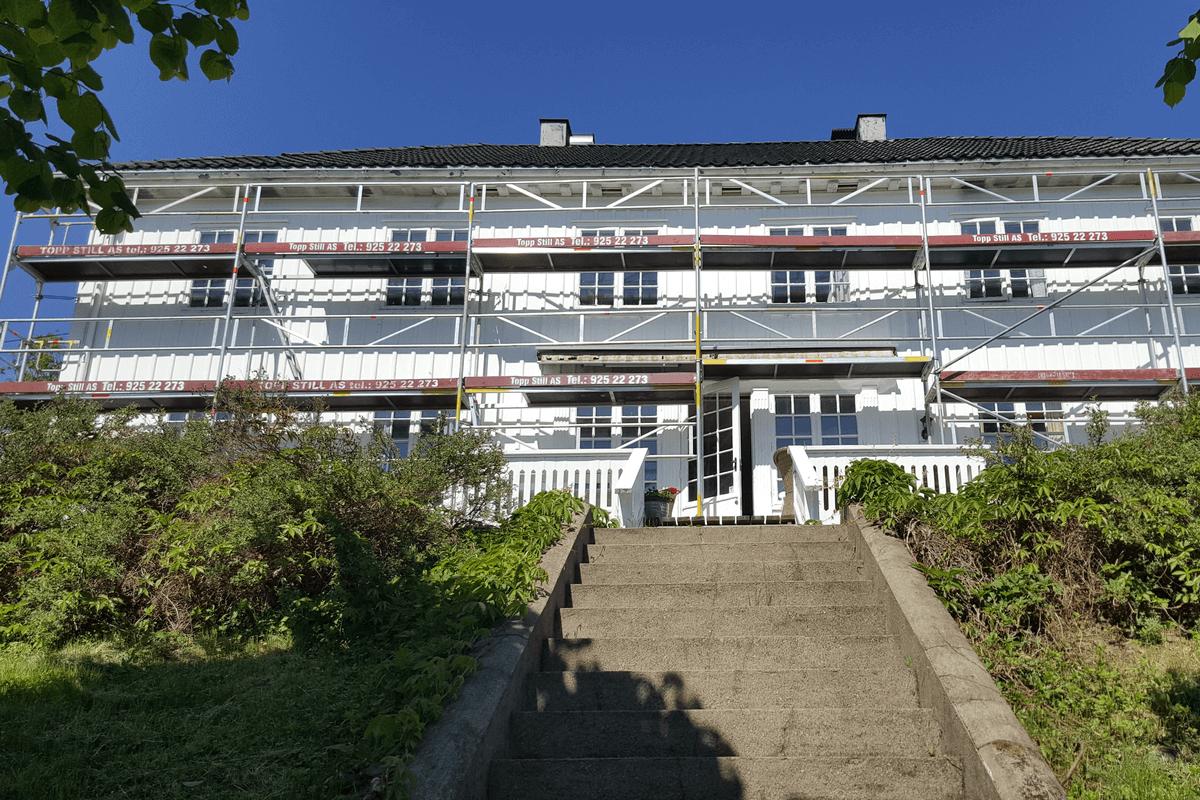 Maling av hus i Asker